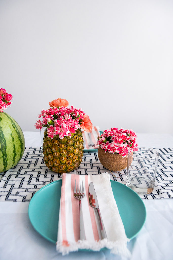 DIY Fruit Vases